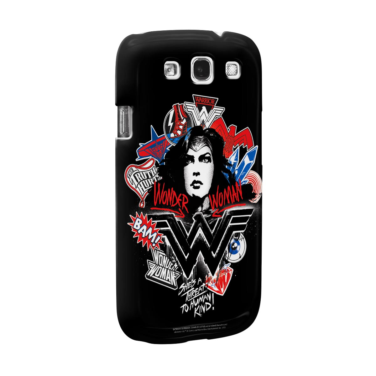 Capa para Samsung Galaxy S3 Wonder Woman She´s a Threat