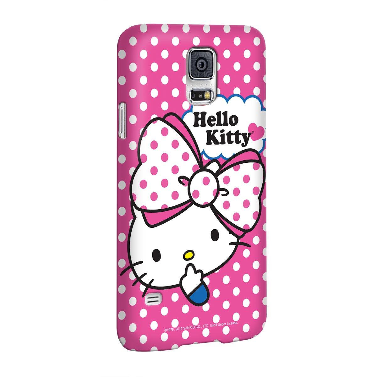 Capa para Samsung Galaxy S5 Hello Kitty Big Ribbon