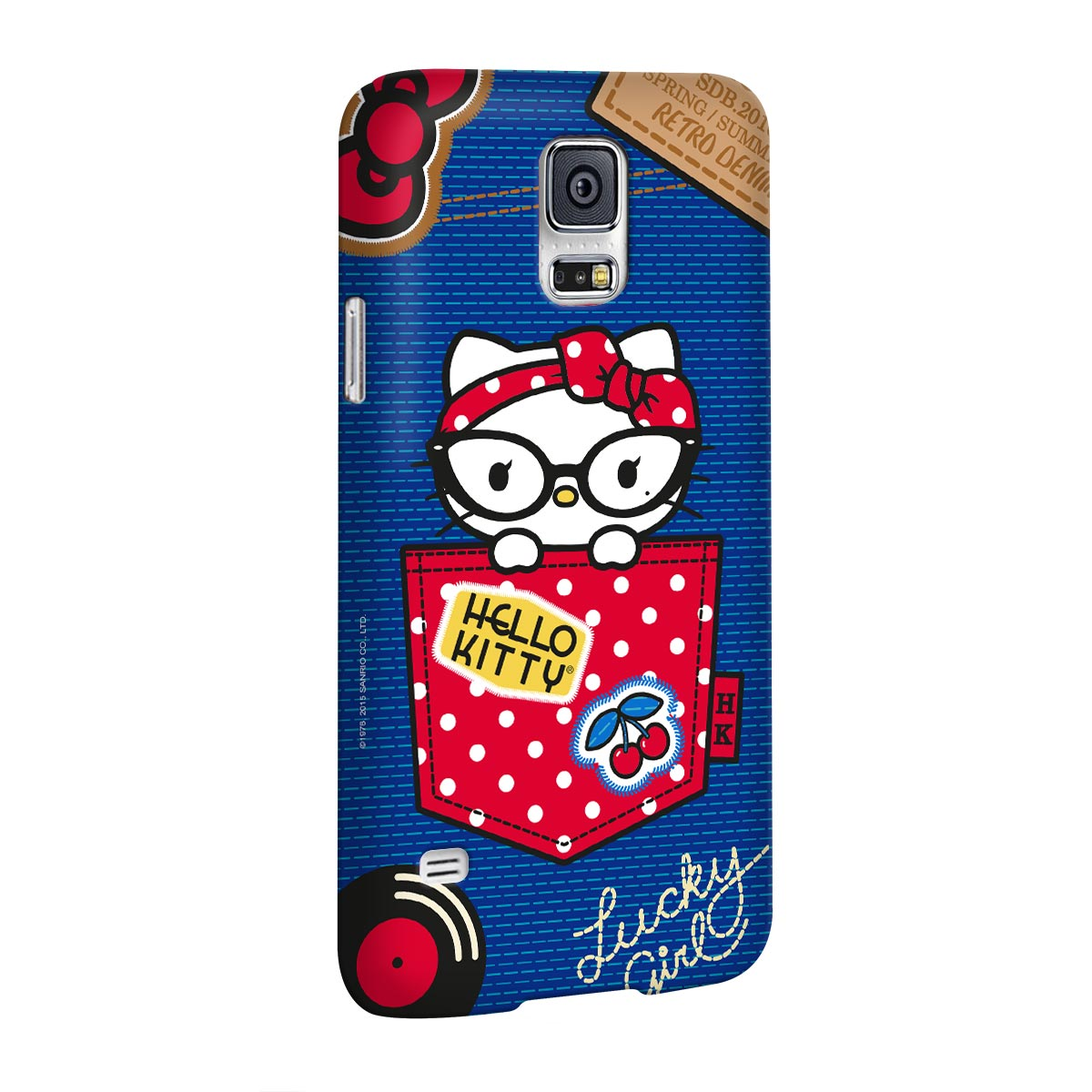 Capa para Samsung Galaxy S5 Hello Kitty Retro Denim