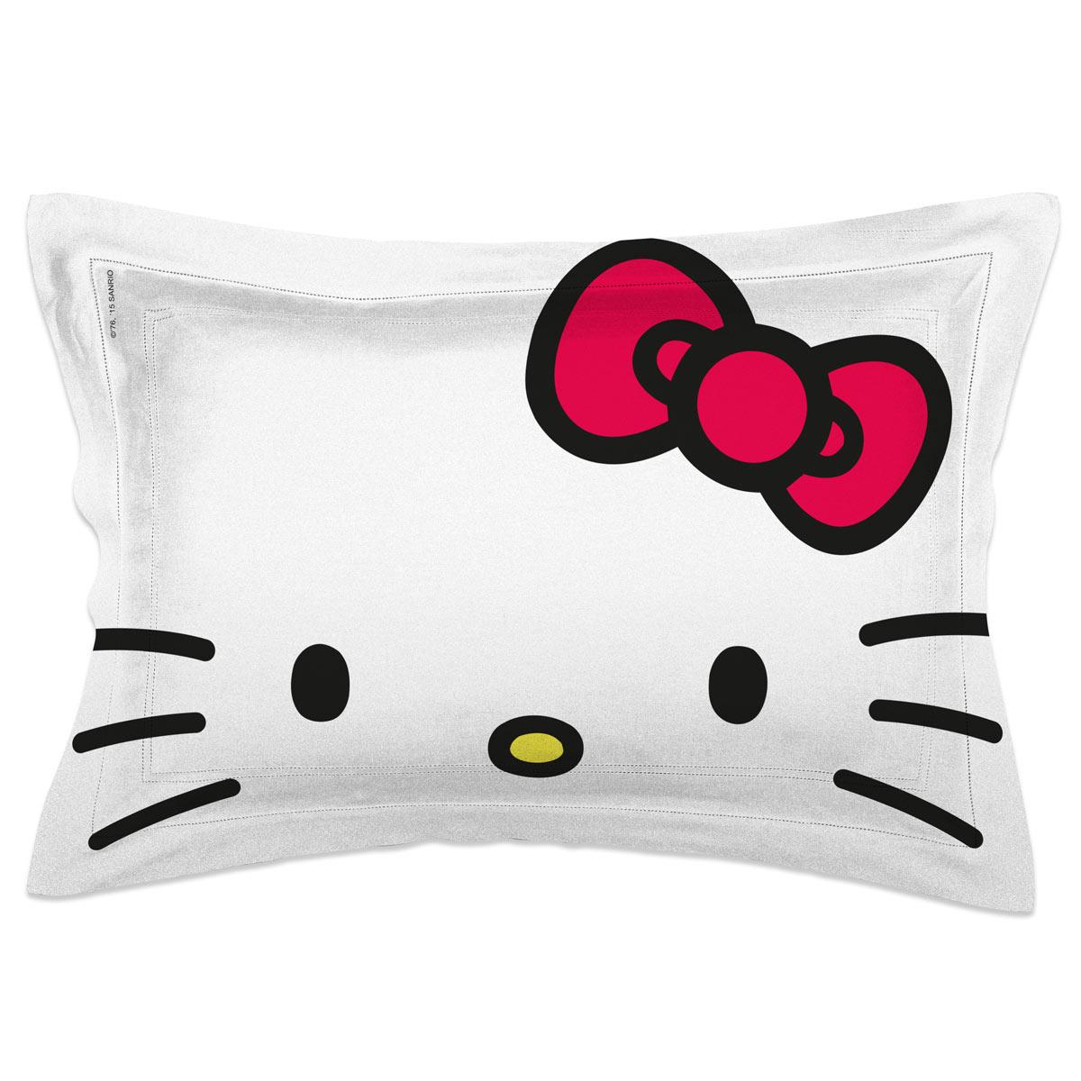 Capa para Travesseiro Helo Kitty White