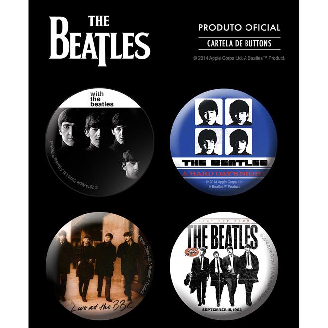 Cartela de Buttons The Beatles Albums 3