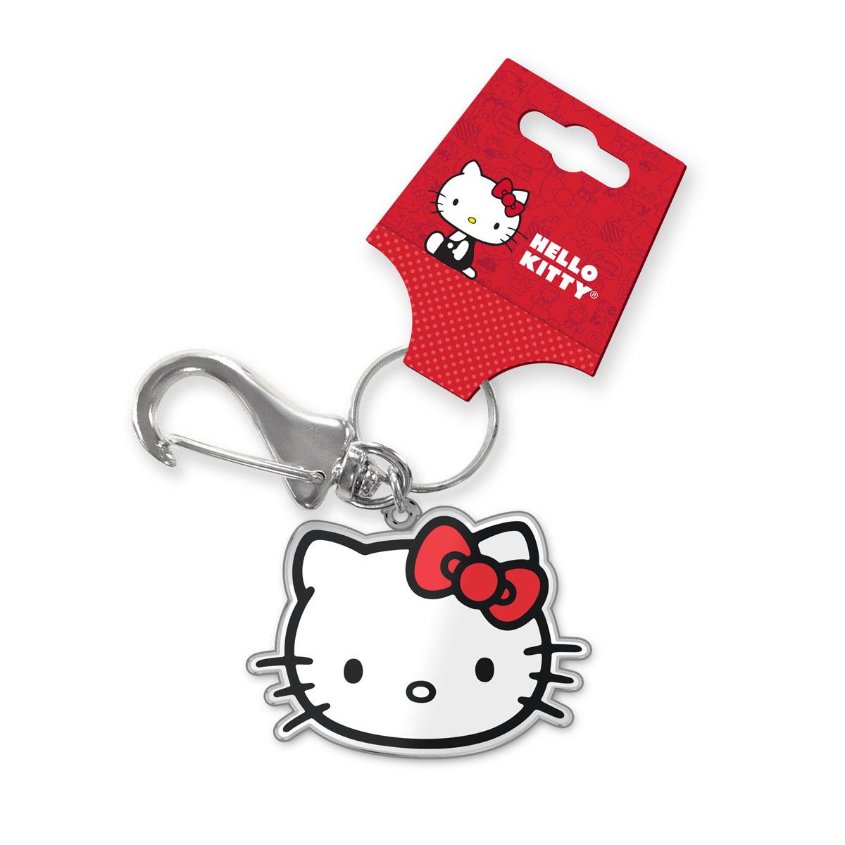 Chaveiro de Metal Hello Kitty Face