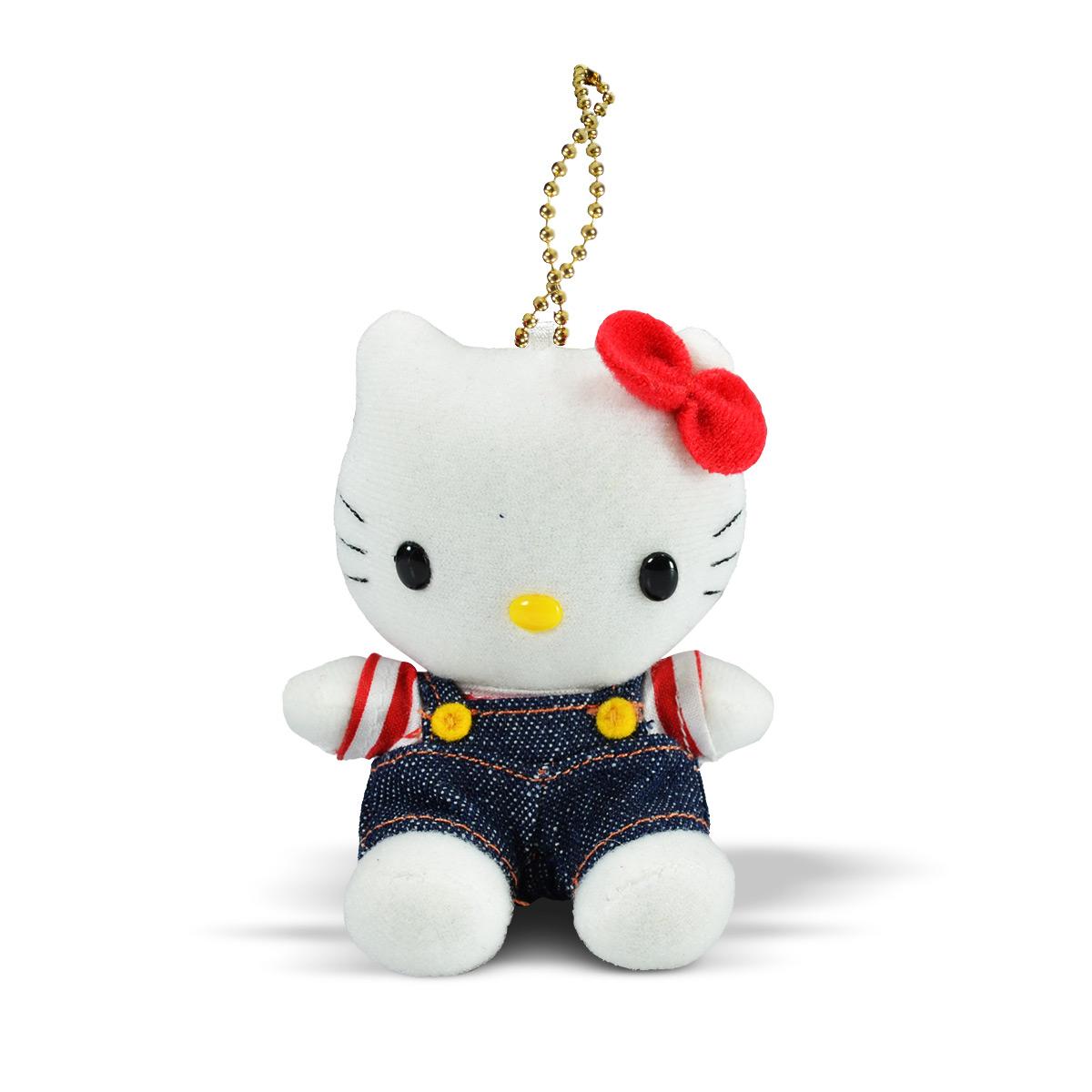 Chaveiro de Pelúcia Hello Kitty Azul Jeans