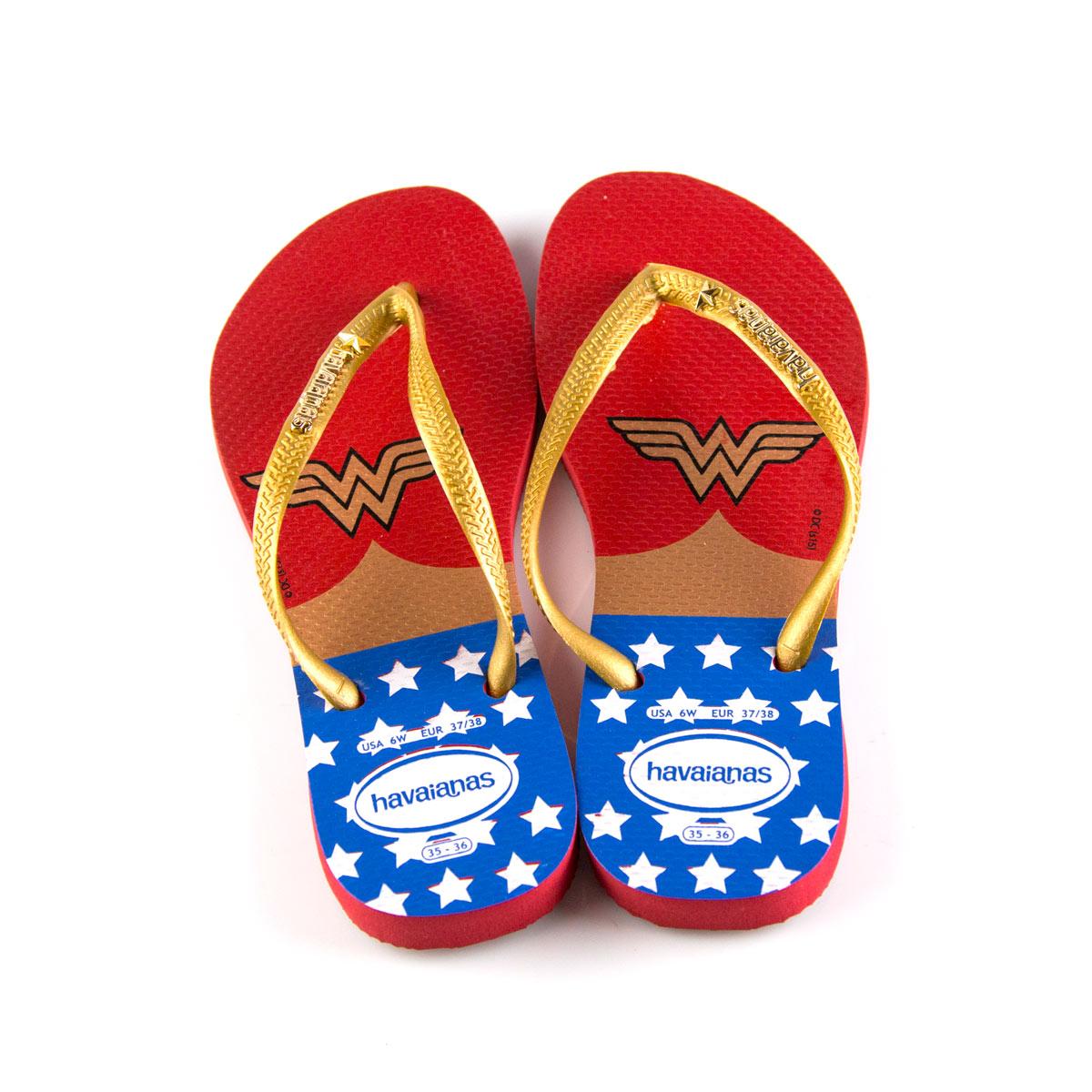 Chinelo Feminino Wonder Woman Classic Logo