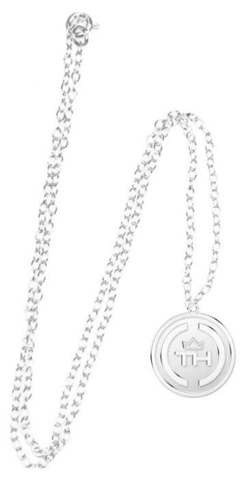 Colar Feminino Thiaguinho Medalha TH Prata