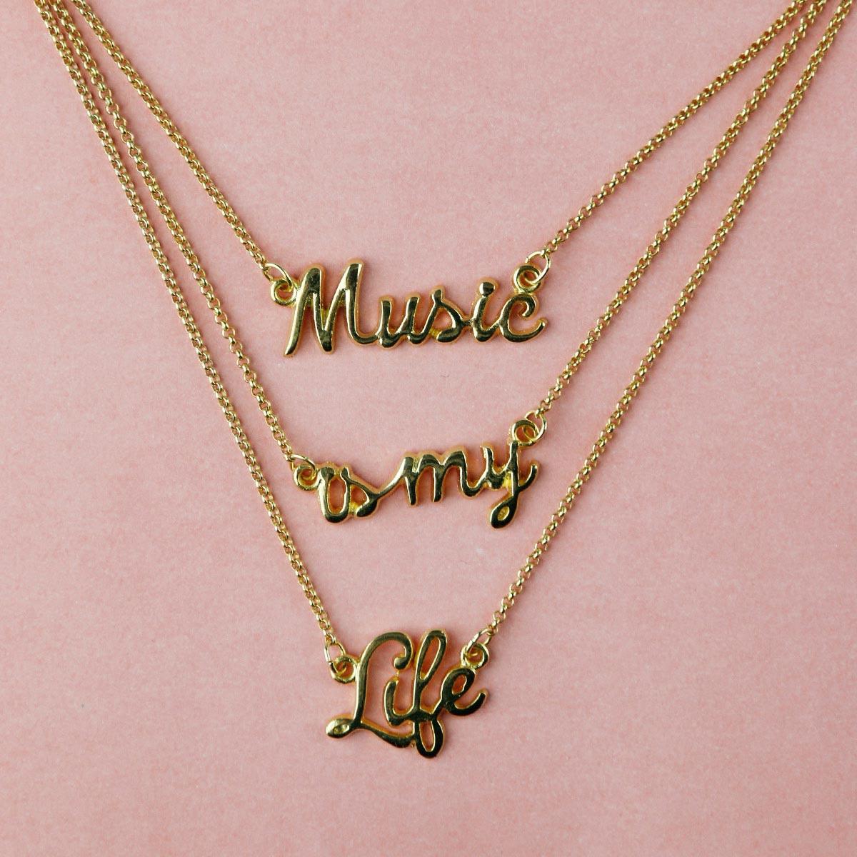 Colar Ouro Luan Santana Music Is My Life