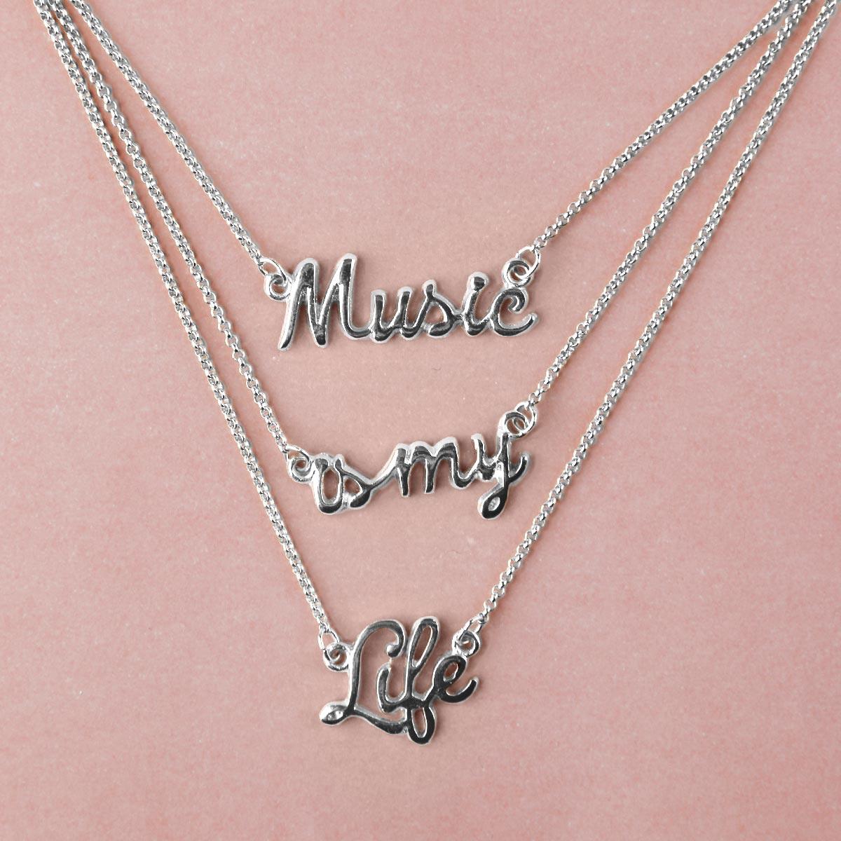 Colar Prata Luan Santana Music Is My Life