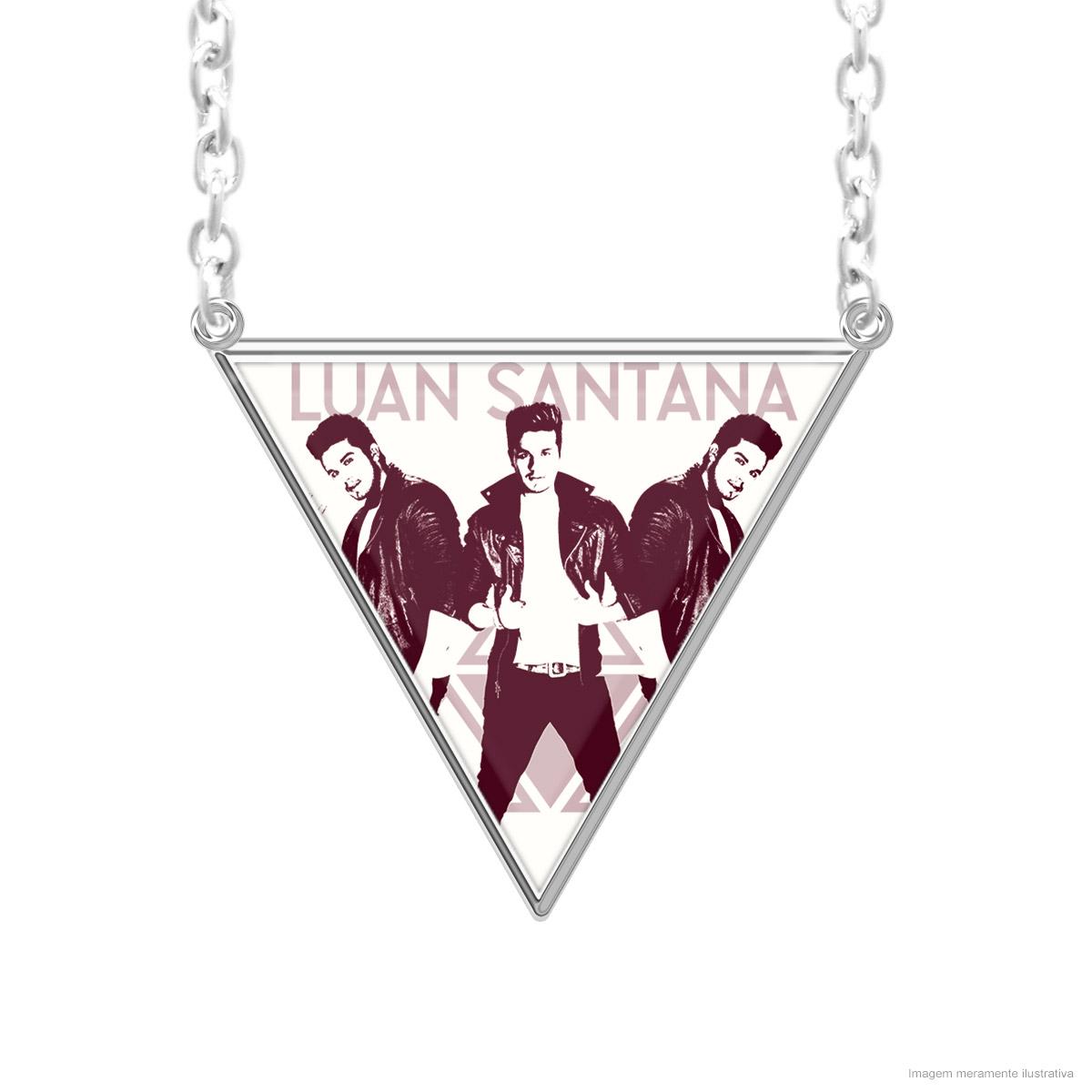 Colar Prata Luan Santana Triângulo Foto