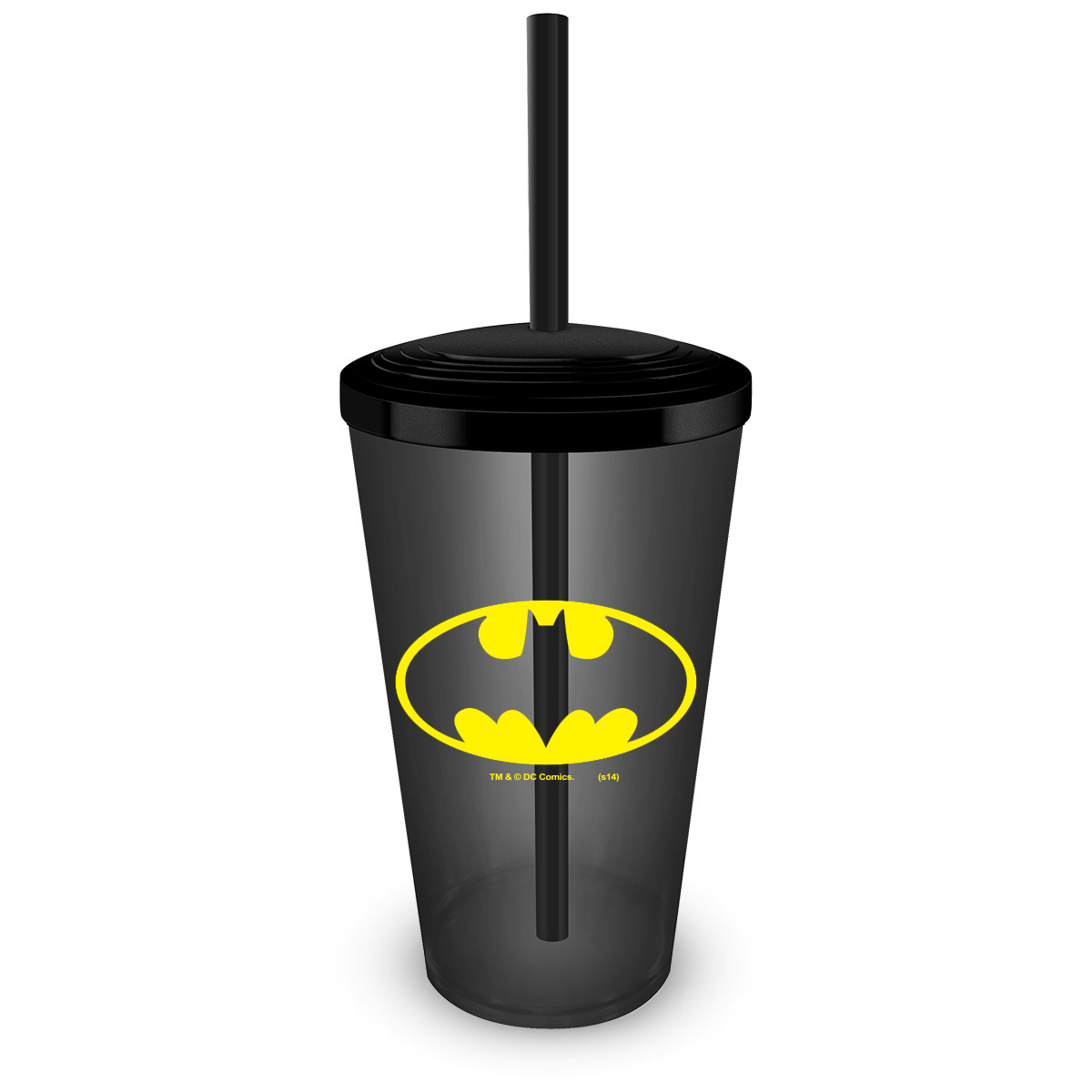Copo Acrílico Fumê Batman Logo