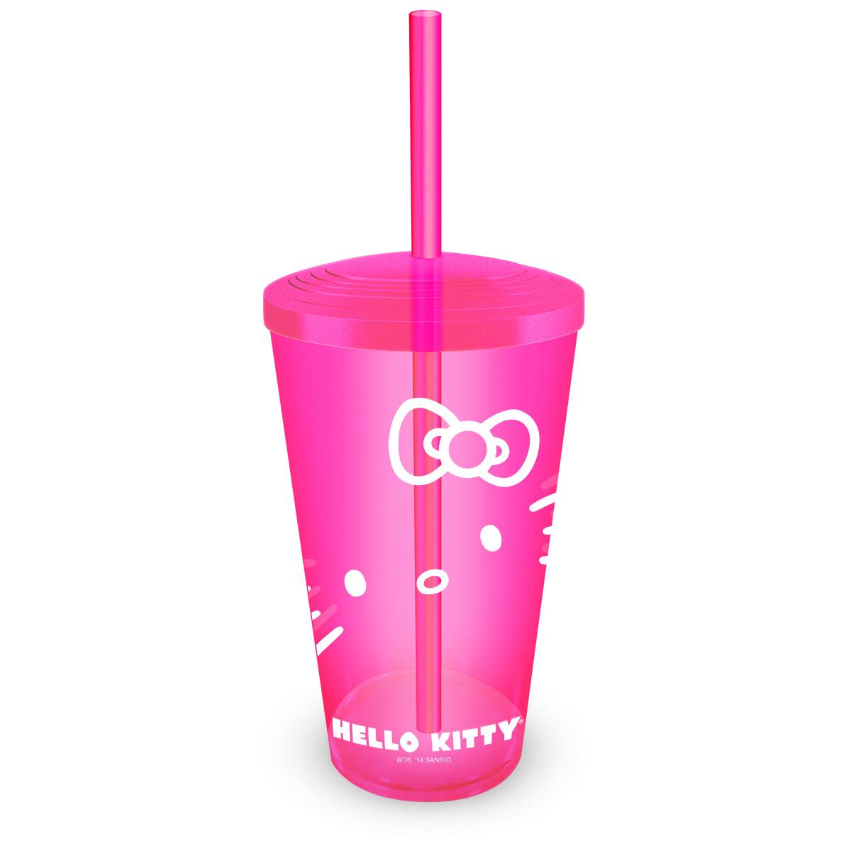 Copo Acrílico Hello Kitty Pink