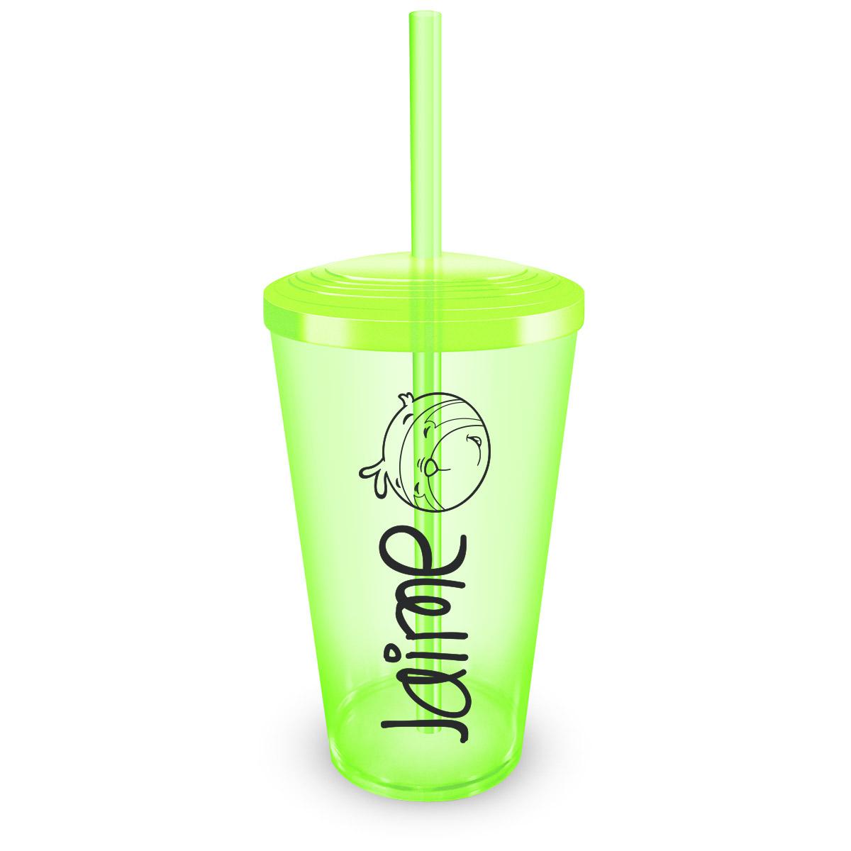 Copo Acrílico Verde Jaime Mascote