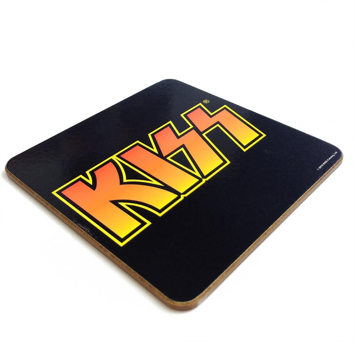 Descanso de Copo Kiss Logo