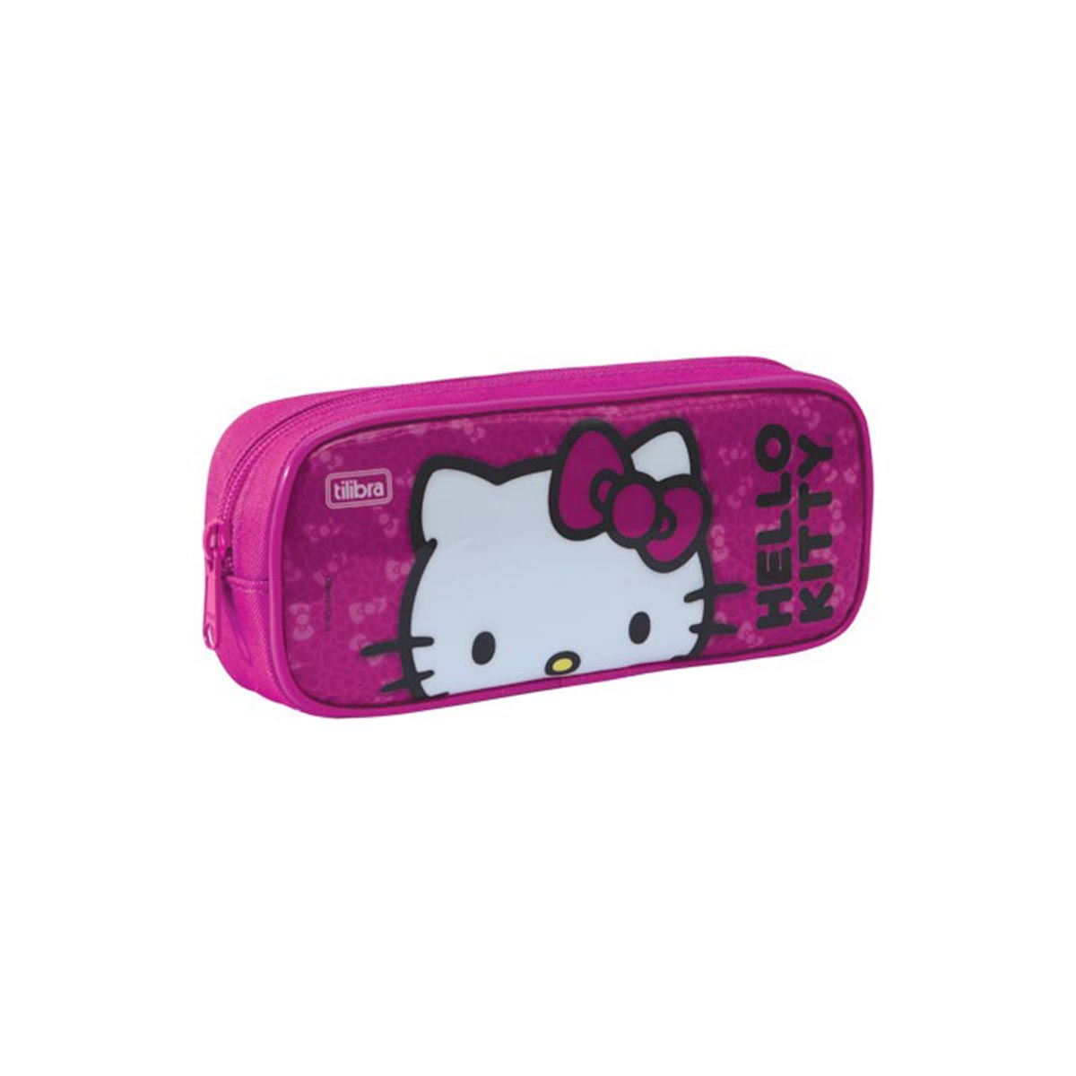 Estojo Simples Hello Kitty Pink Face