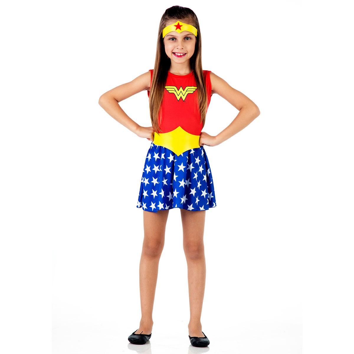 Fantasia Infantil Wonder Woman Pop