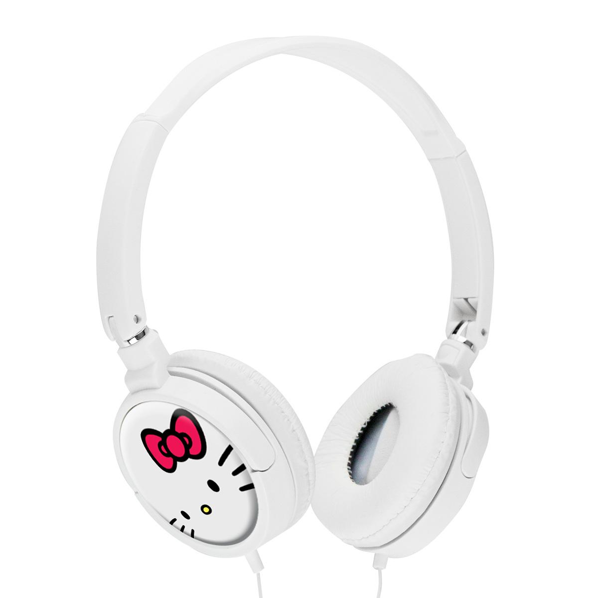 Fones de Ouvido Hello Kitty White
