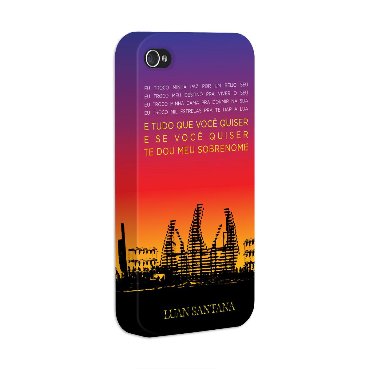 Kit Com 3 Capas de iPhone 4/4S Luan Santana Concept