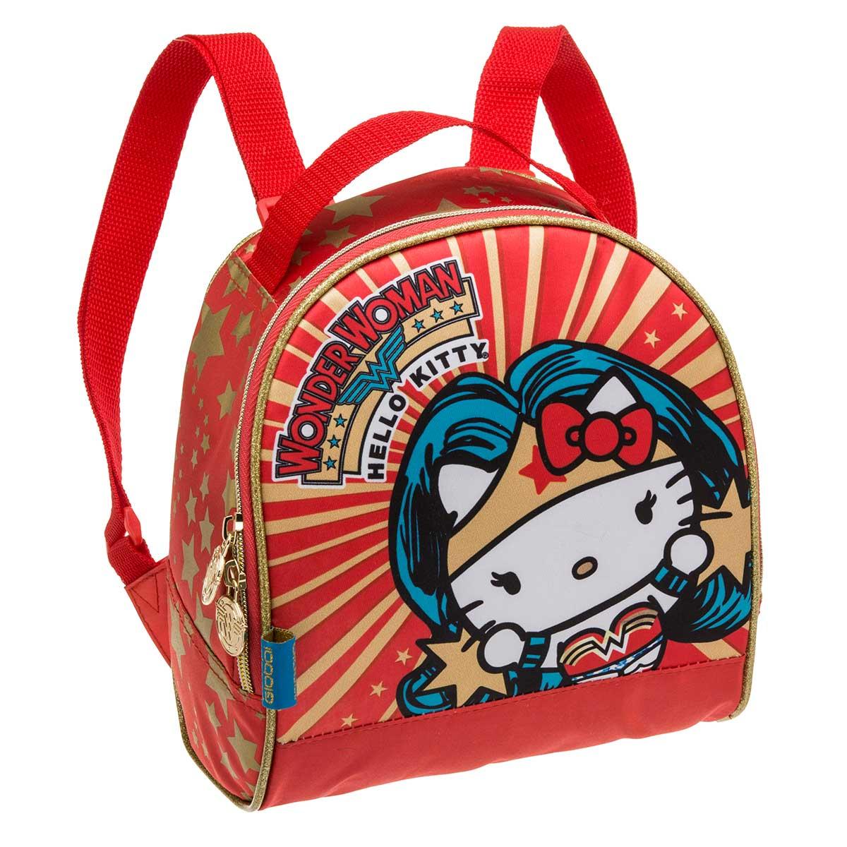 Lancheira com Acessórios Hello Kitty Wonder Woman