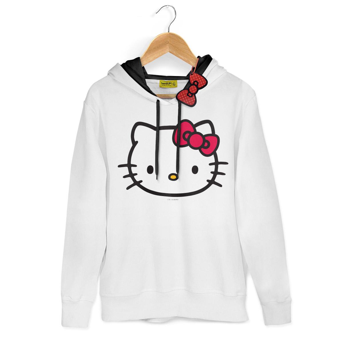 Moletom Branco Hello Kitty Tradicional 2