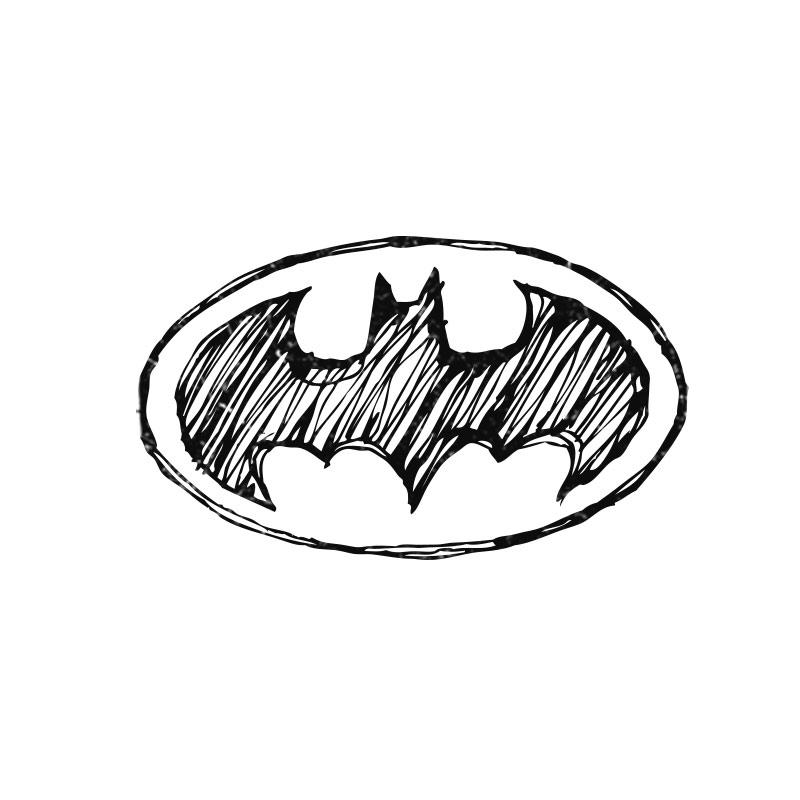 Moletom Com Capuz Preto Tracing Logo Batman