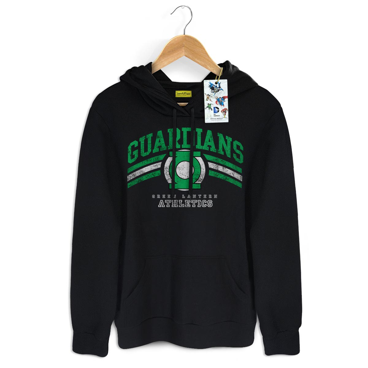 Moletom Preto Lanterna Verde Guardians Athletics