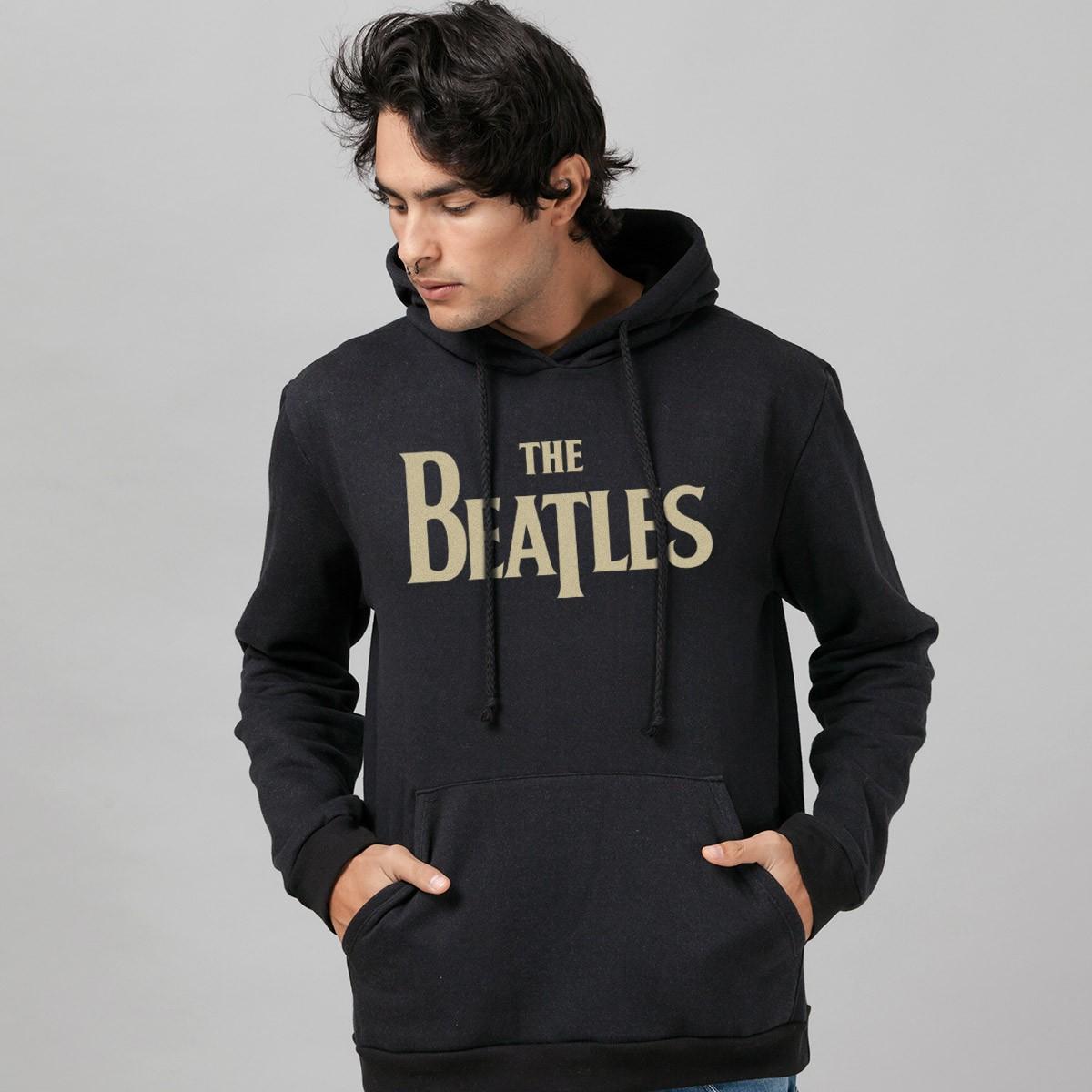 Moletom Preto The Beatles Yellow Submarine