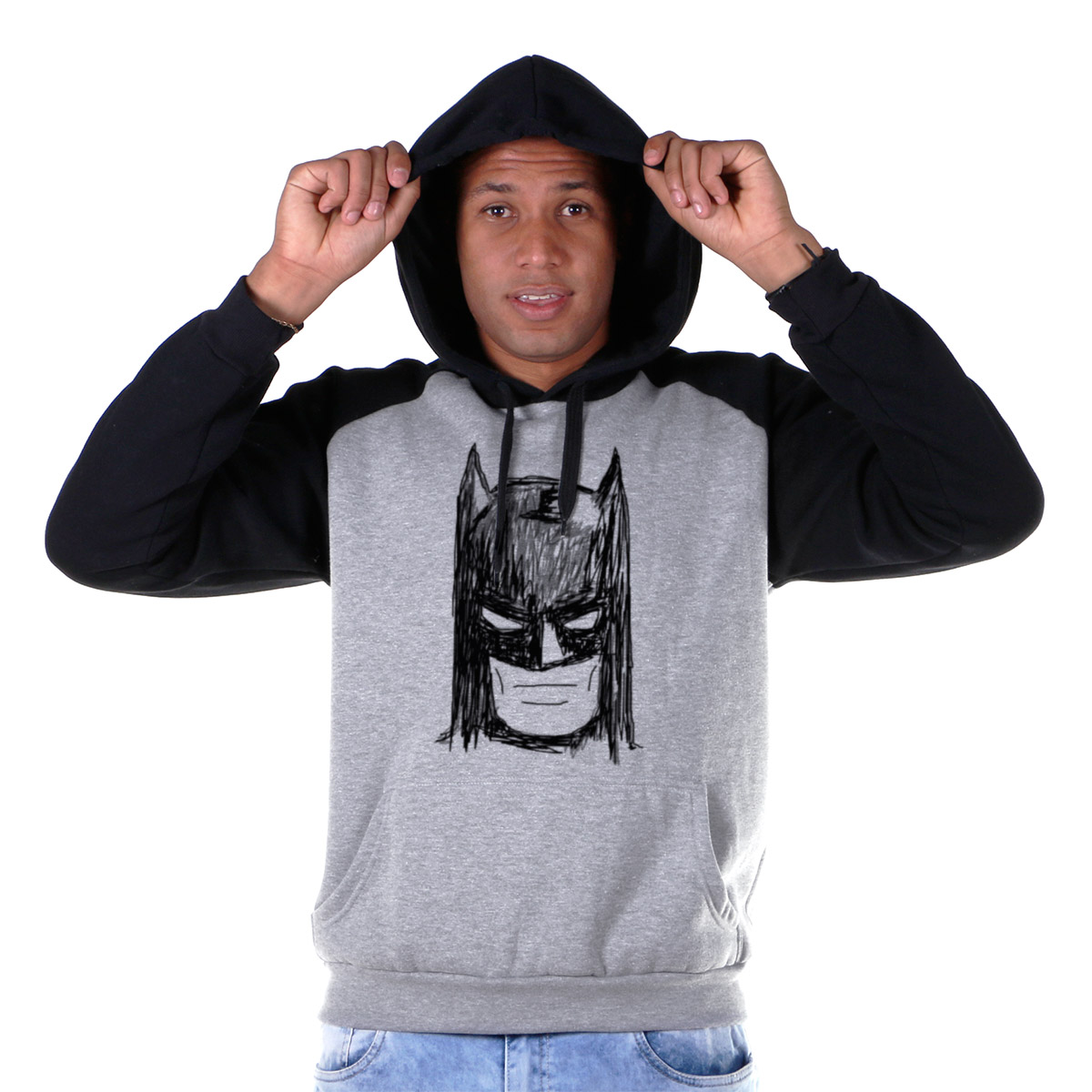 Moletom Raglan Batman Face