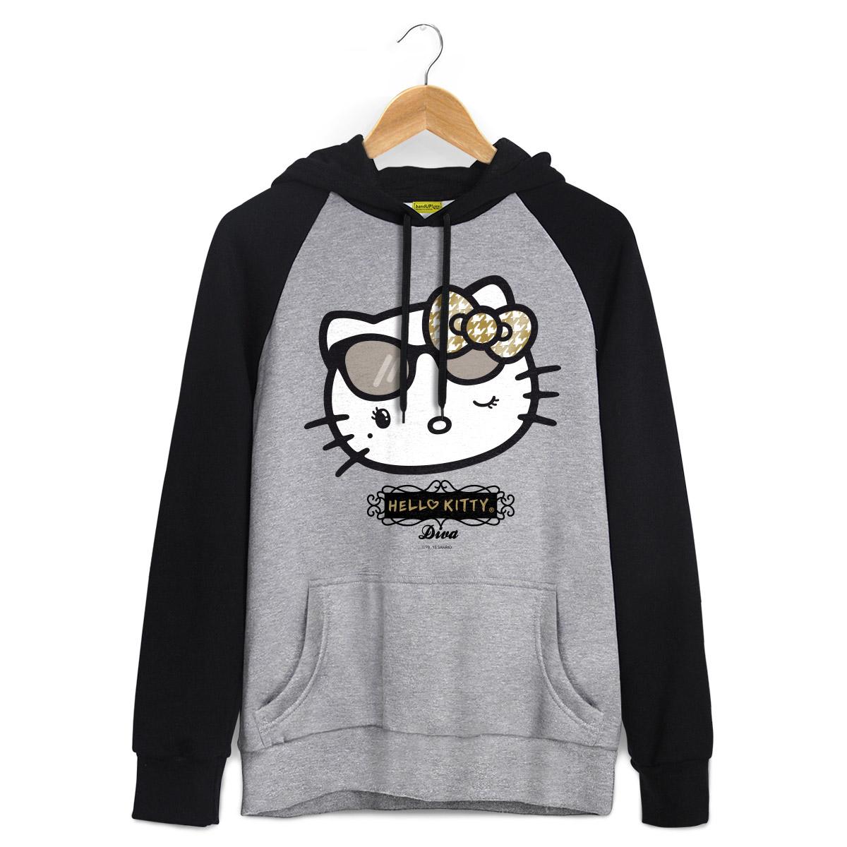 Moletom Raglan Hello Kitty Diva