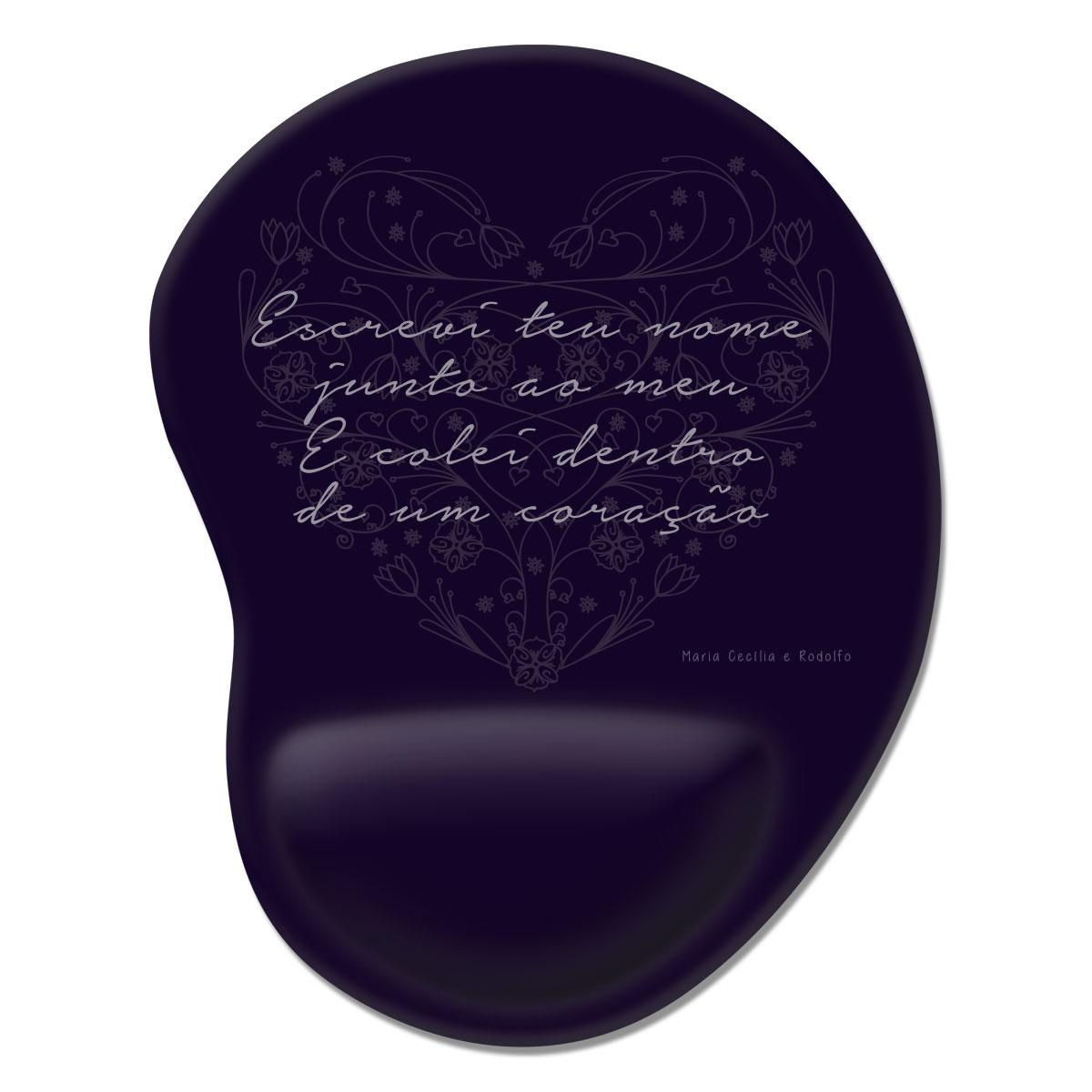 Mousepad Maria Cecília & Rodolfo Escrevi Teu Nome