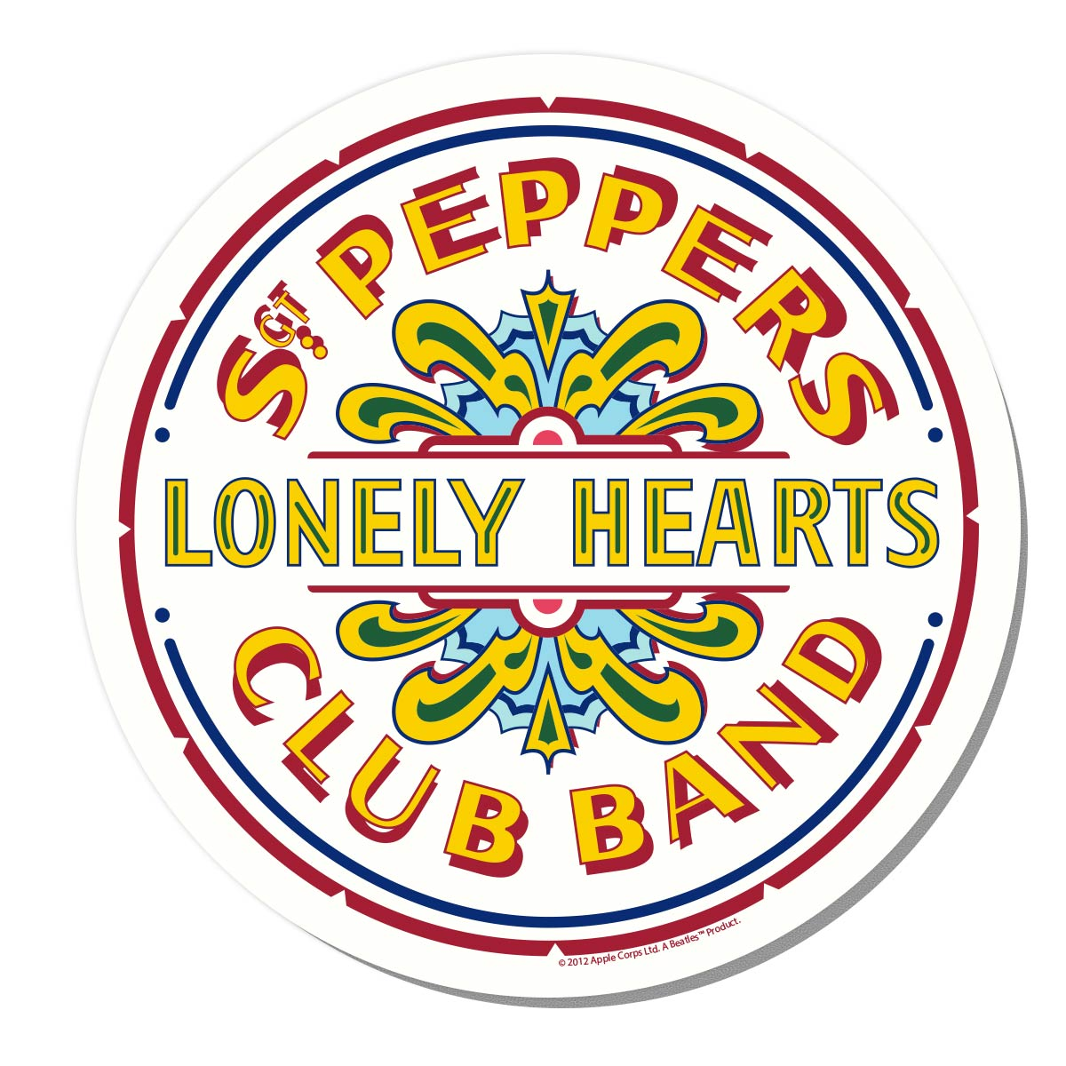 Mousepad Redondo The Beatles Sgt. Peppers Club Band And The Lonely Hearts
