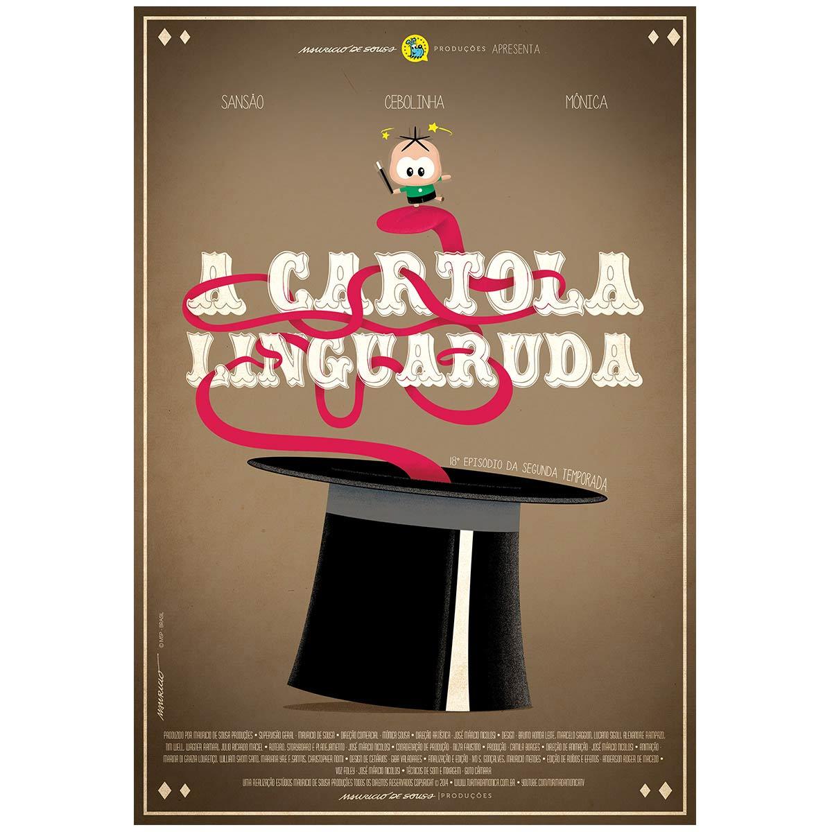 Poster Turma da Mônica Toy A Cartola Linguaruda