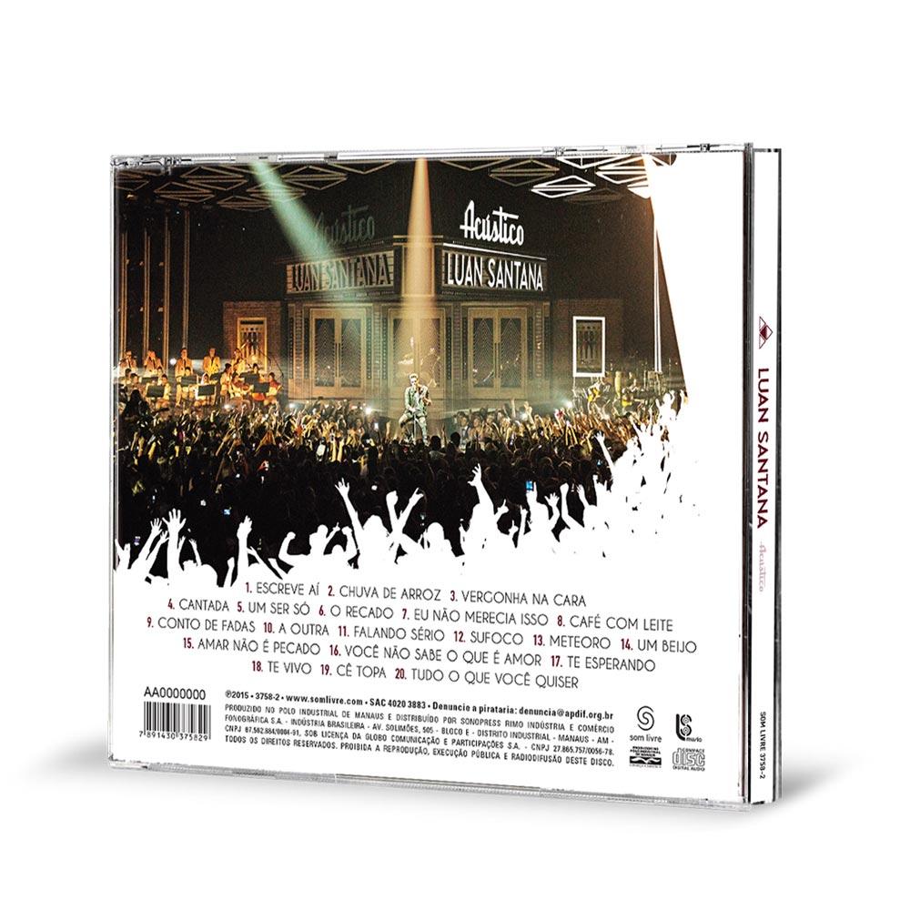 CD Luan Santana Acústico + Pôster GRÁTIS