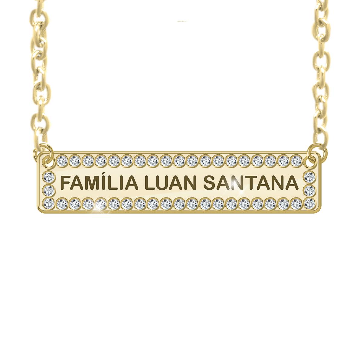 Colar Ouro Luan Santana Família LS