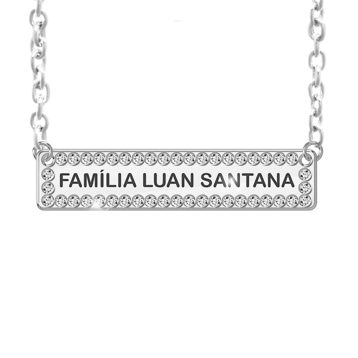Colar Prata Luan Santana Família LS