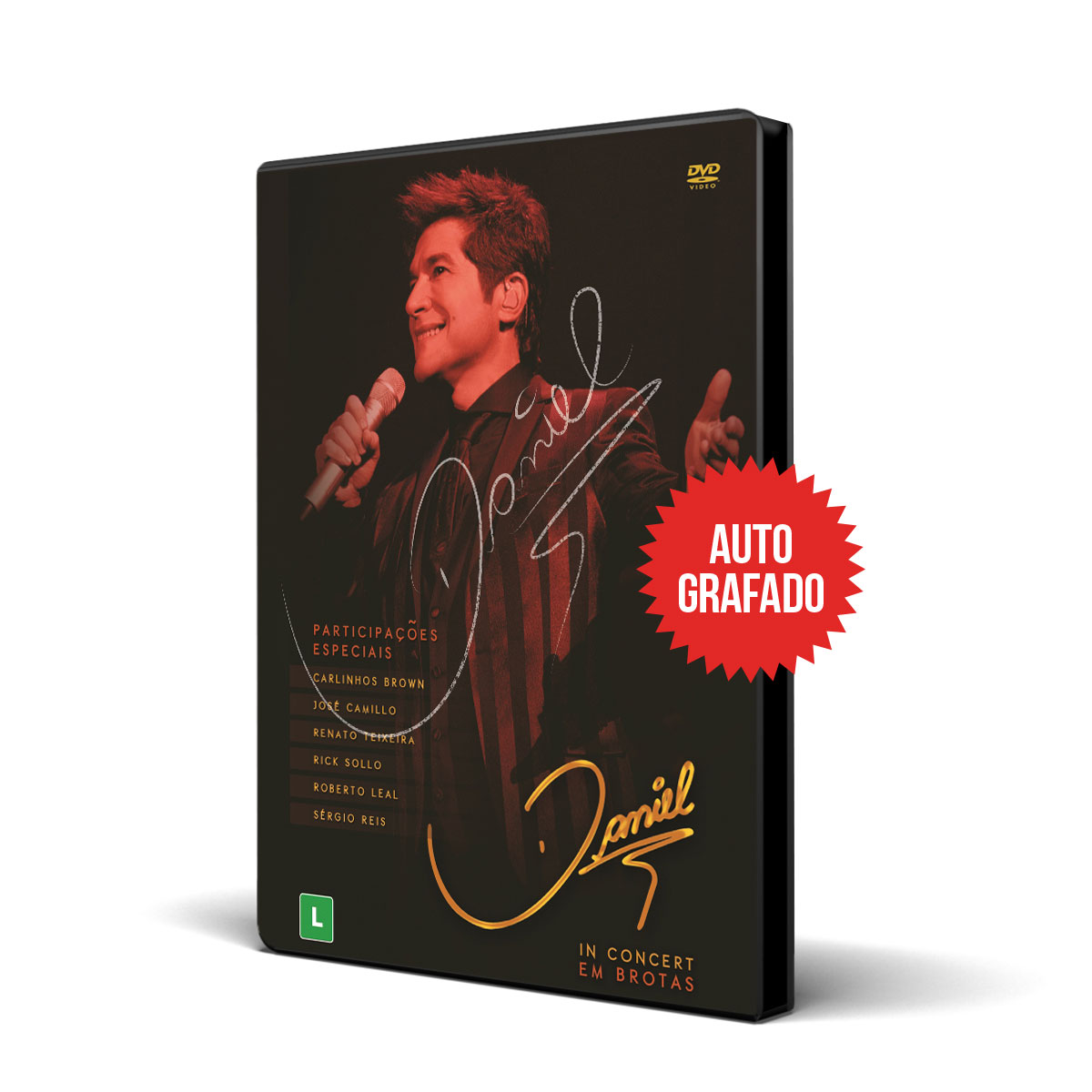 2º Lote Combo DVD Autografado Daniel In Concert em Brotas + Camiseta Masculina
