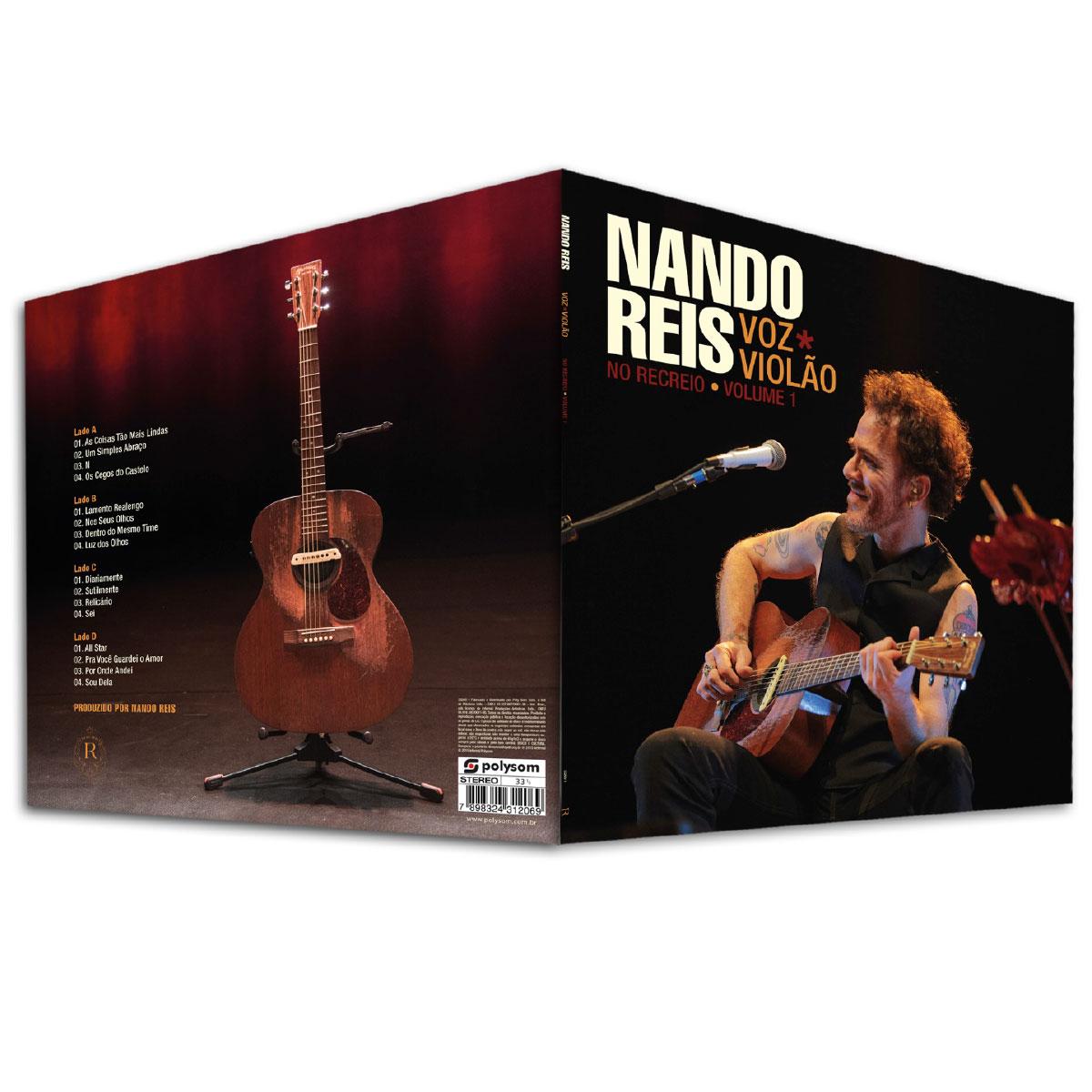 LP Duplo Nando Reis No Recreio Voz e Violão - Volume 1