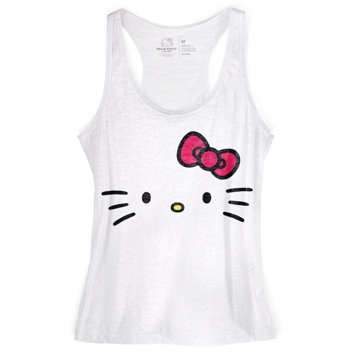 Regata Nadador Feminina Hello Kitty White