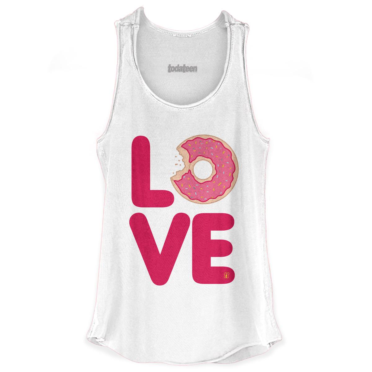 Regata Premium Feminina TodaTeen Love Donuts
