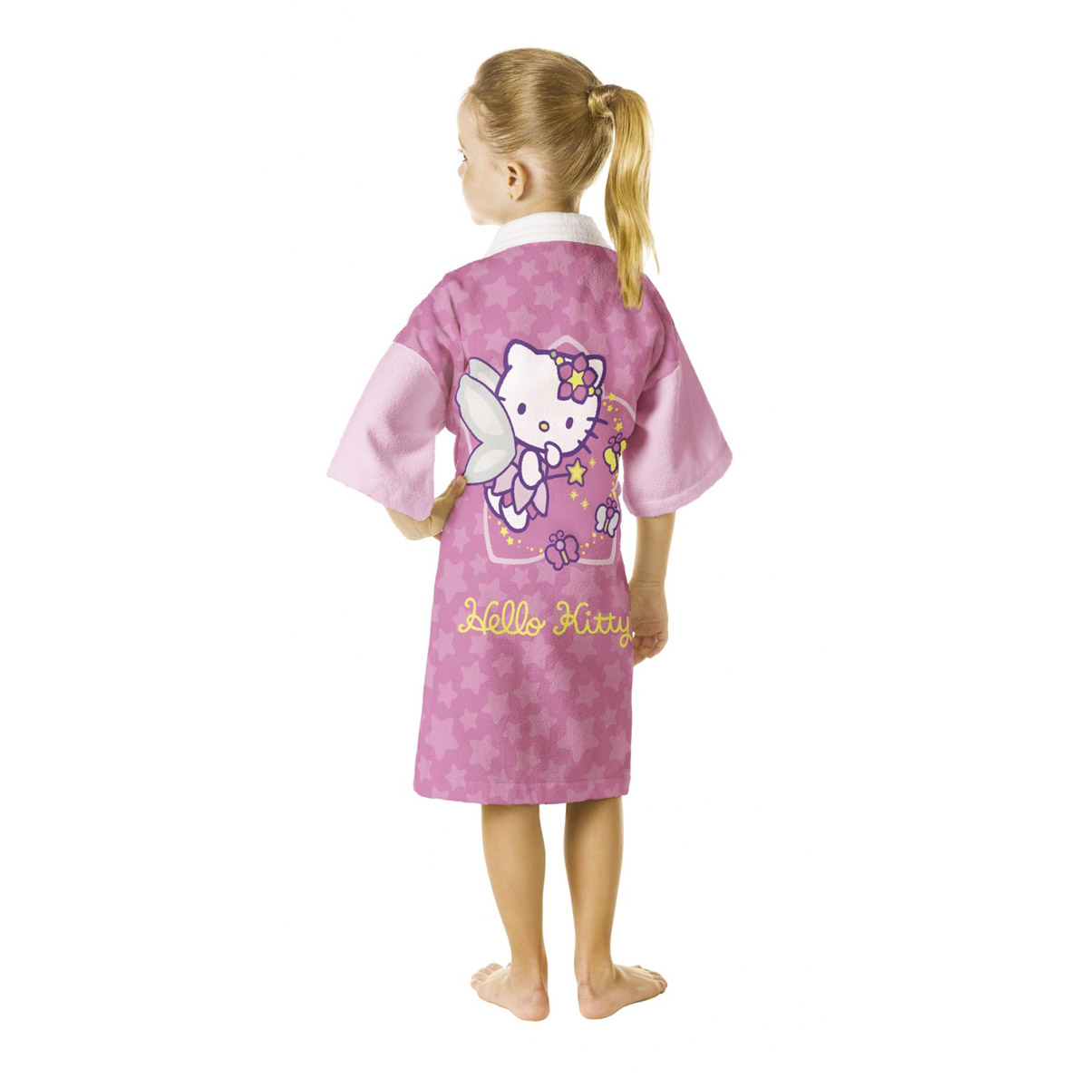 Roupão Aveludado Infantil Hello Kitty Fada