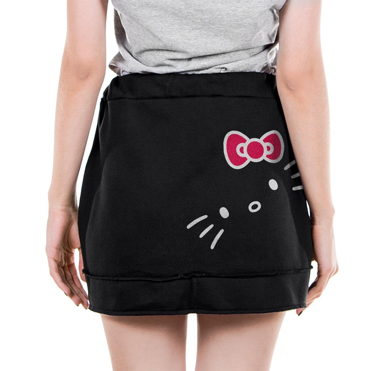 Saia de Moletom Hello Kitty Logo
