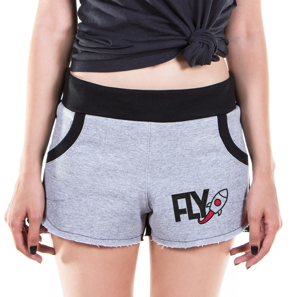 Shorts de Moletom Banda Fly Rocket
