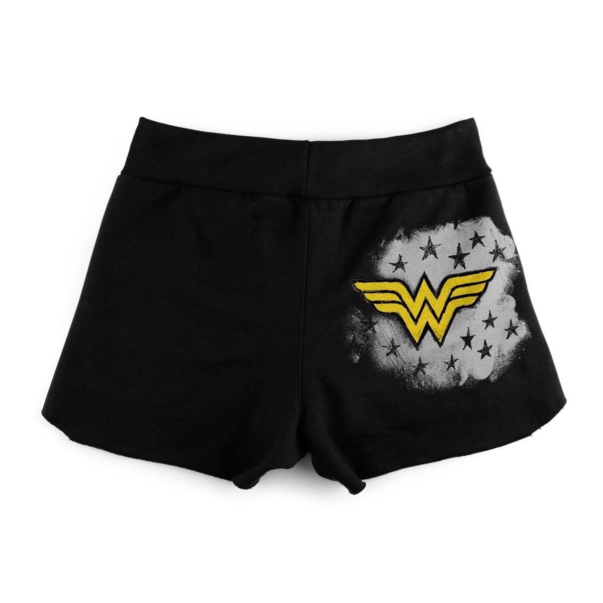 Shorts de Moletom Wonder Woman Stars