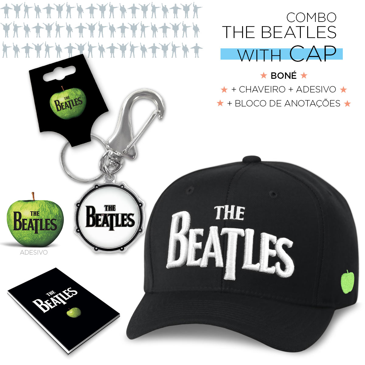 Super Combo The Beatles With Cap