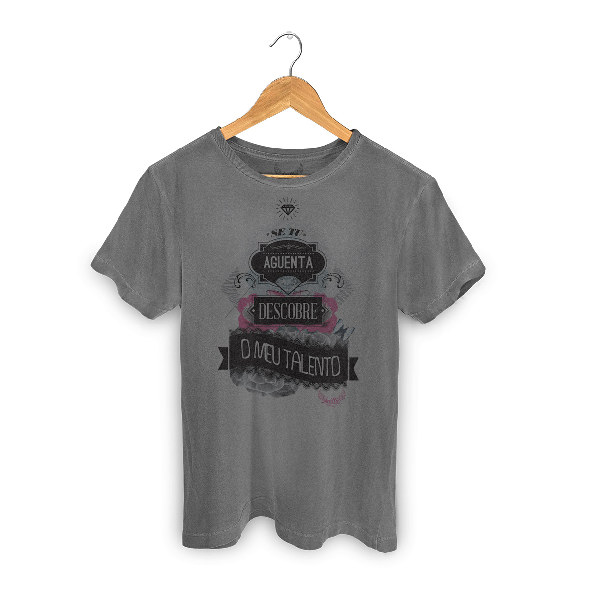 T-shirt Premium Anitta Se Tu Aguenta Descobre Meu Talento