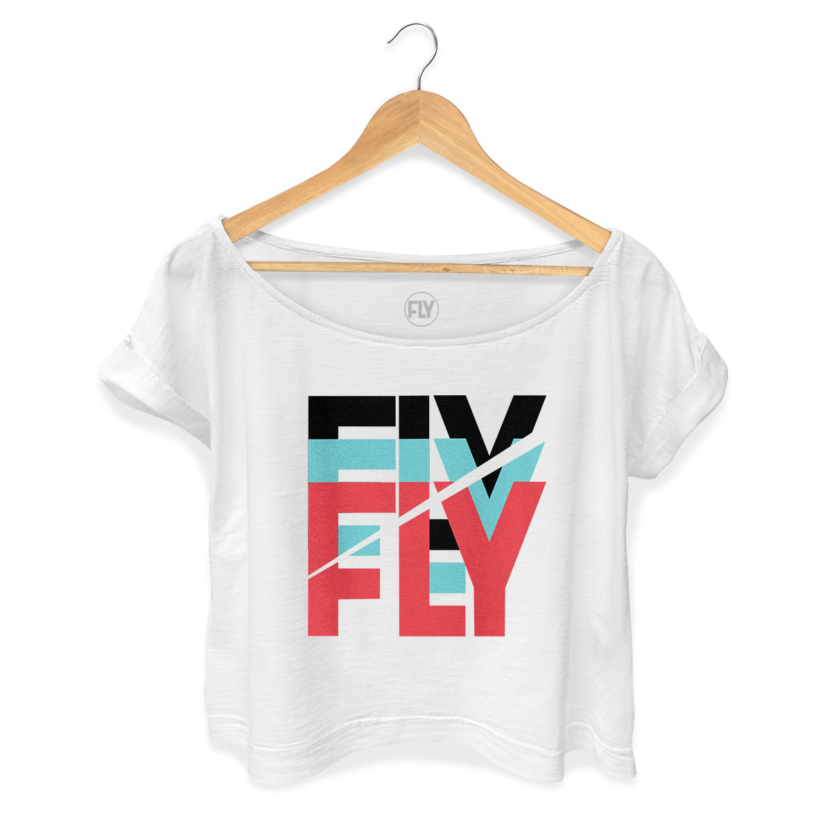 T-shirt Premium Feminina Banda Fly Logo Colors