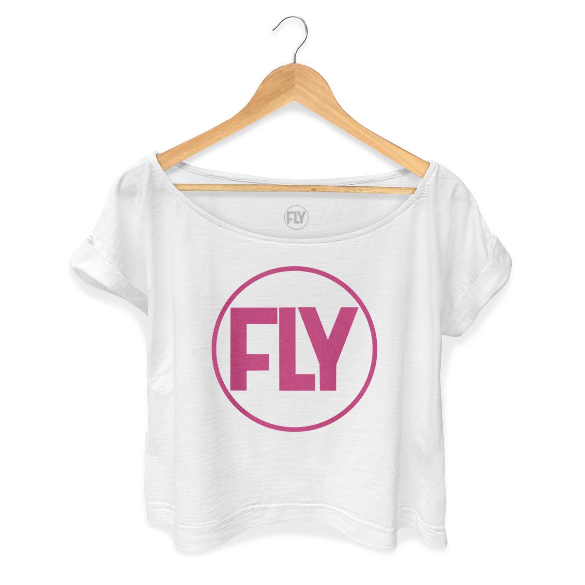T-shirt Premium Feminina Banda Fly Logo Pink
