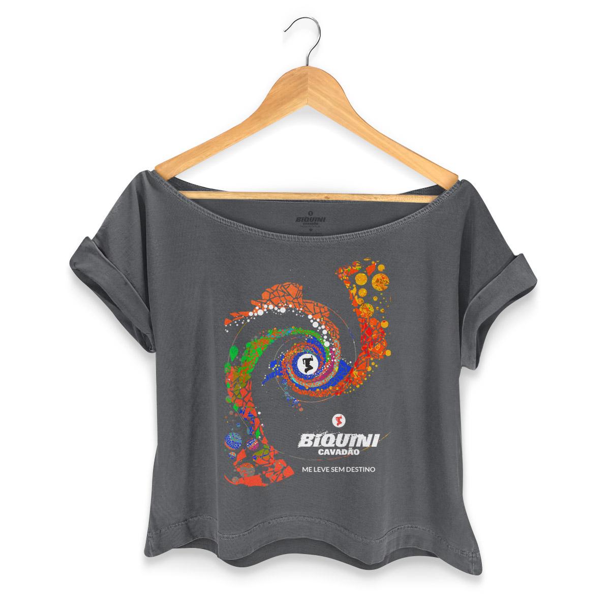 T-shirt Premium Feminina Biquini Cavadão Me Leve Sem Destino