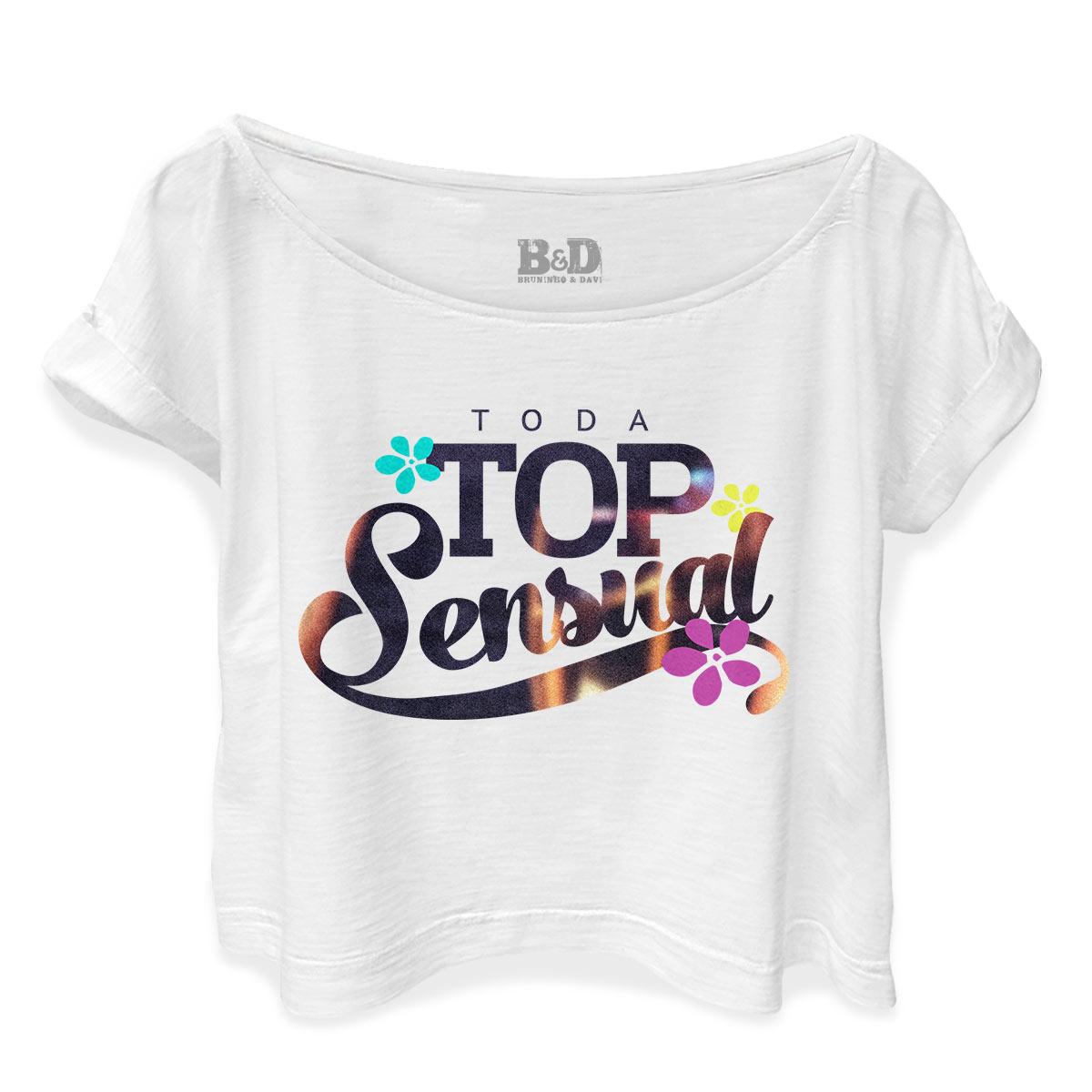 T-shirt Premium Feminina Bruninho & Davi Top Sensual