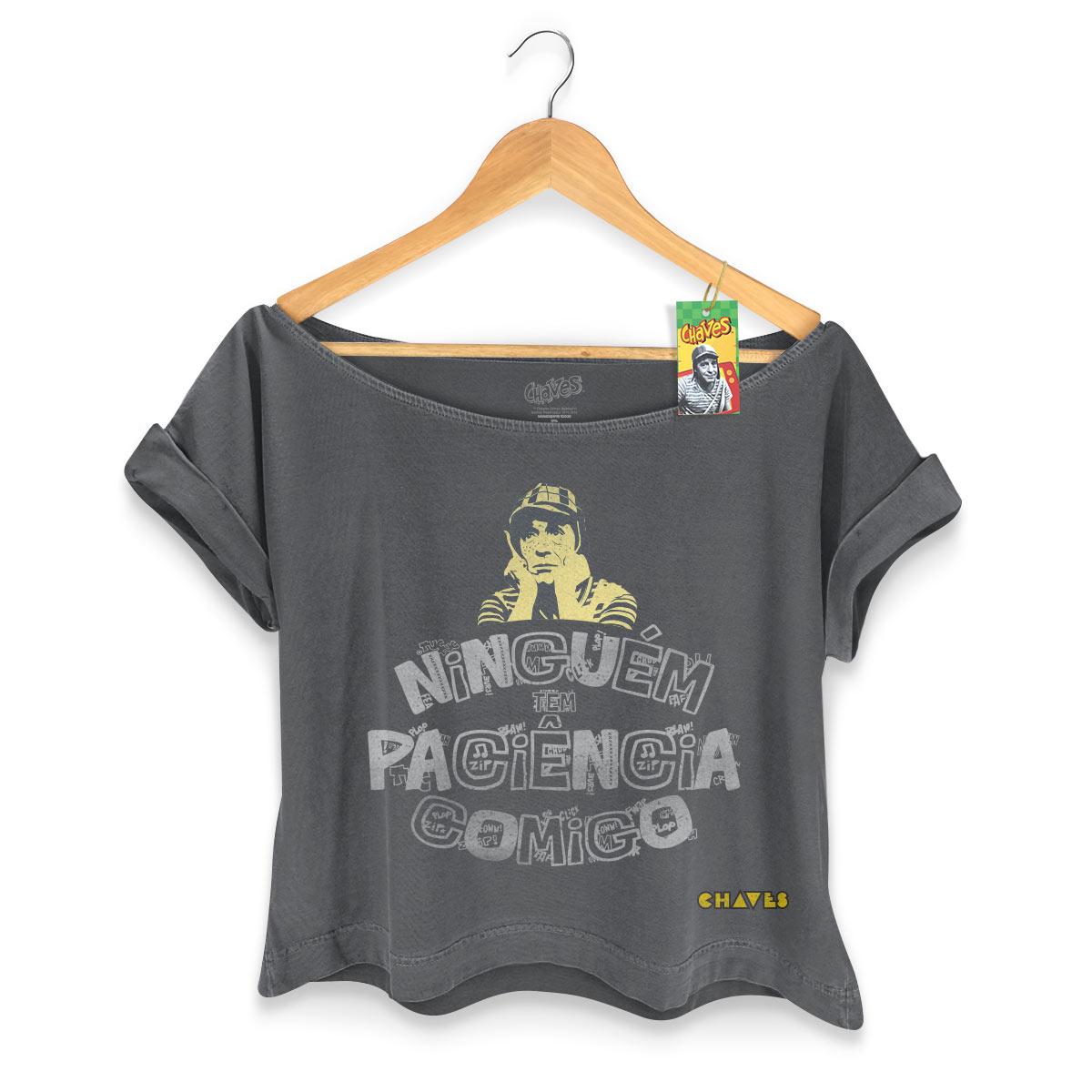 T-shirt Premium Feminina Chaves Niguém Tem Paciência Comigo