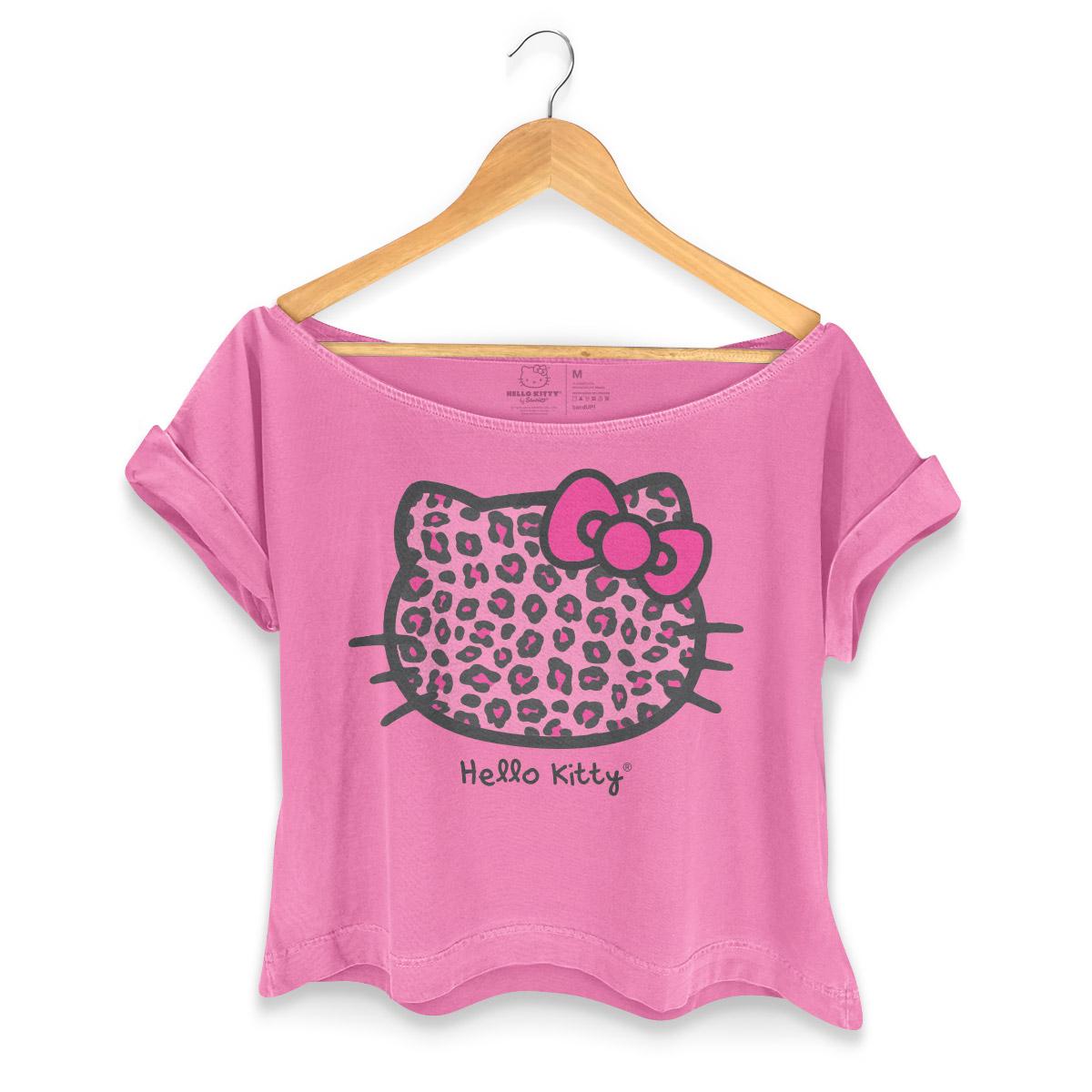 T-shirt Premium Feminina Hello Kitty Animal Print