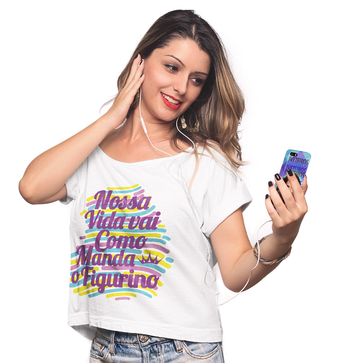 T-shirt Premium Feminina Ivete Sangalo Como Manda o Figurino